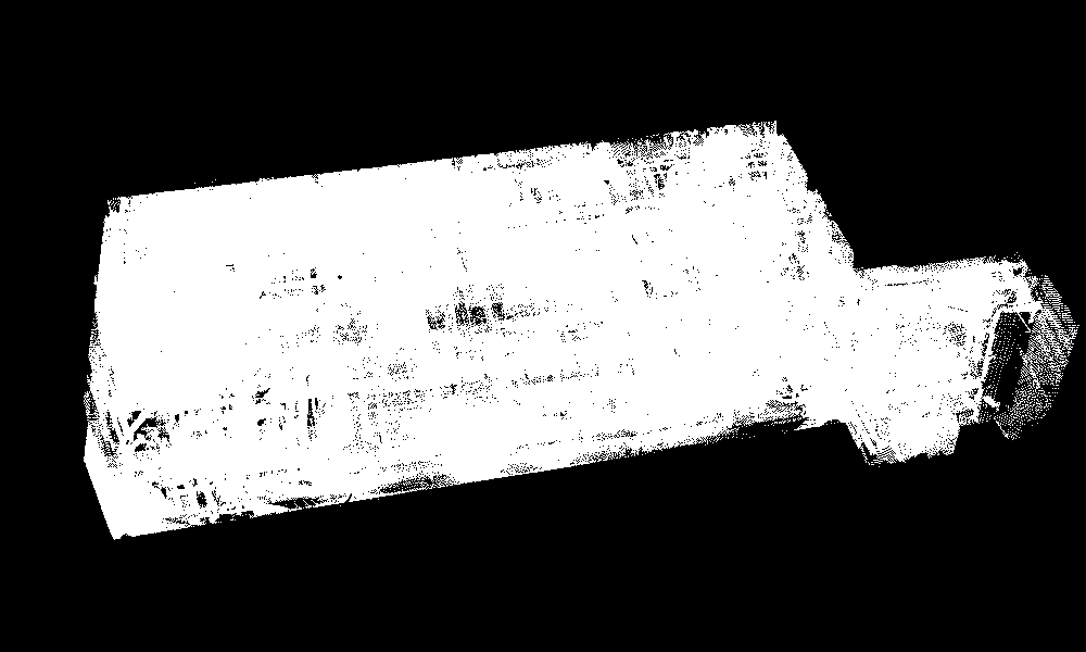 Registered point cloud data