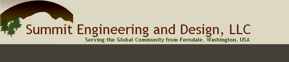 Logo - Summit Engineering and Design, LLC; Serving the global community from Ferndale, Washington, USA.